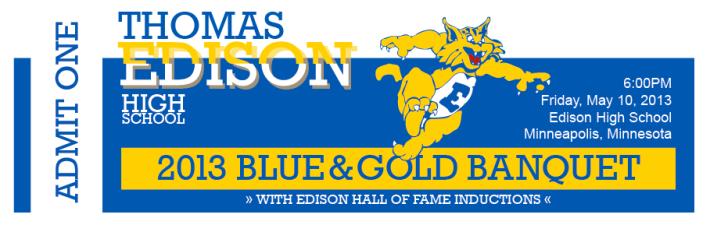 EHS Blue & Gold Ticket